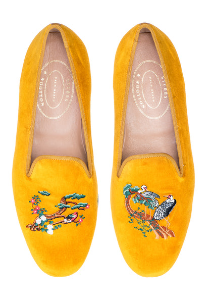 Cranes Gold Men Slipper - Cranes Gold Men Slipper