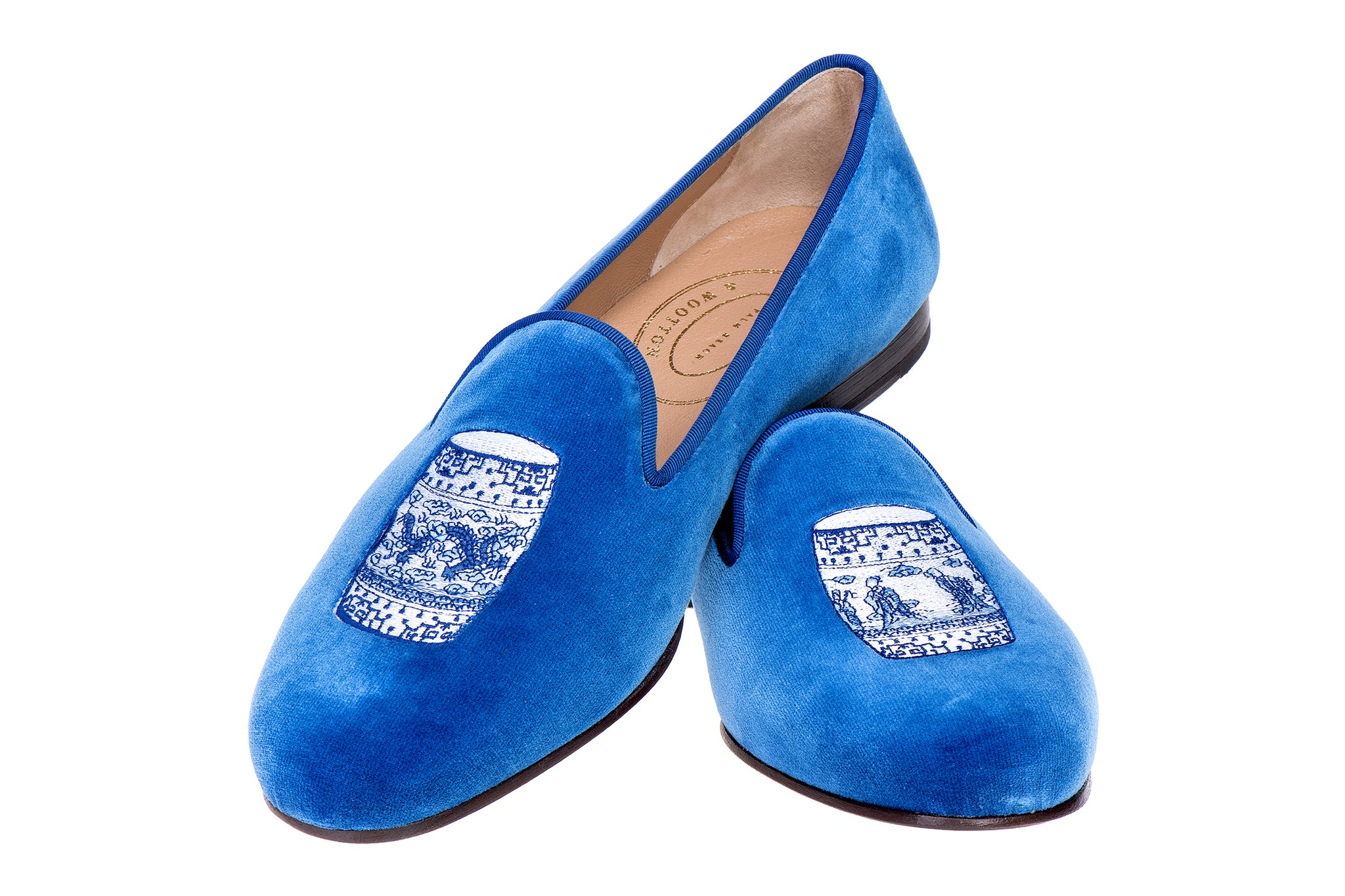 Garden Cobalt Men Slipper