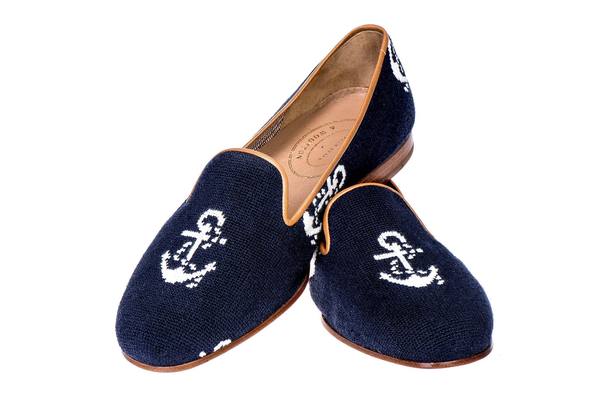 Anclas Navy Men Slipper