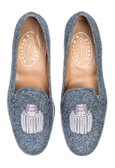 Epaulet Gray Flannel Women Slipper