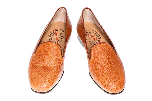 Orange, Américain Pantoufles En Cuir De Football Horween Stubbs & Wootton