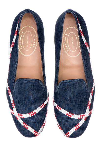 Lines Navy Women Slipper - Lines Navy Women Slipper