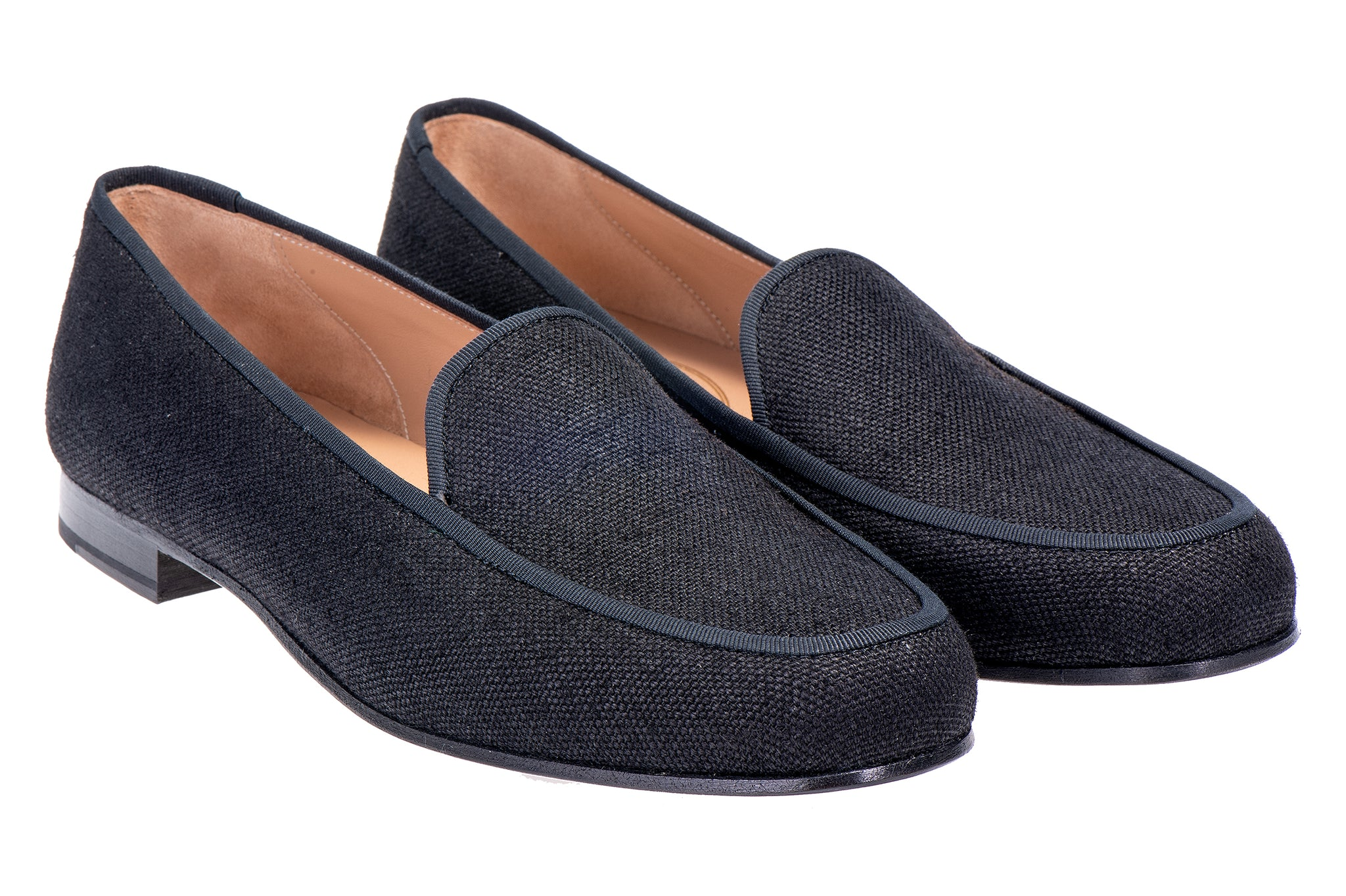 Lux Black Men  Linen Slipper