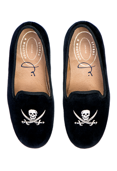 Skull Black  (Jr.) Slipper