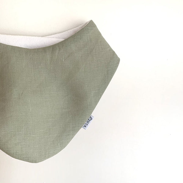 Lovely Linen | Sage | Dribble Bib
