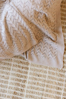 Cashew Heirloom Knit Blanket - Pre Order Due Early May