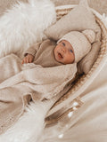 Heirloom Knit Blanket | Oatmeal Fleck