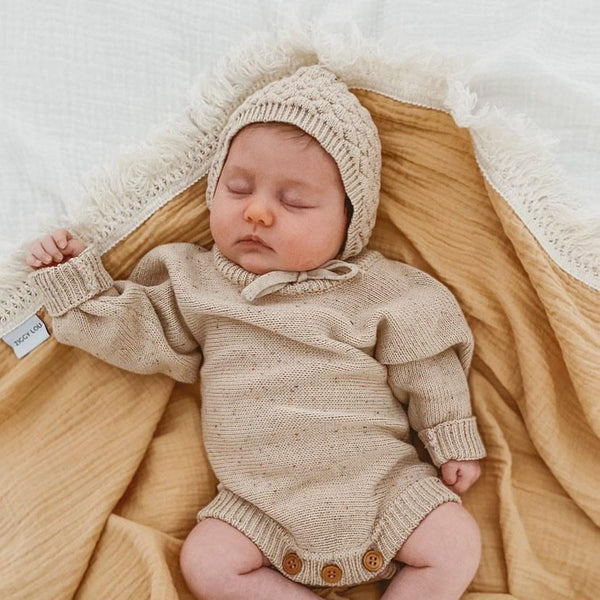 HEIRLOOM ROMPER | CARAMEL FLECK