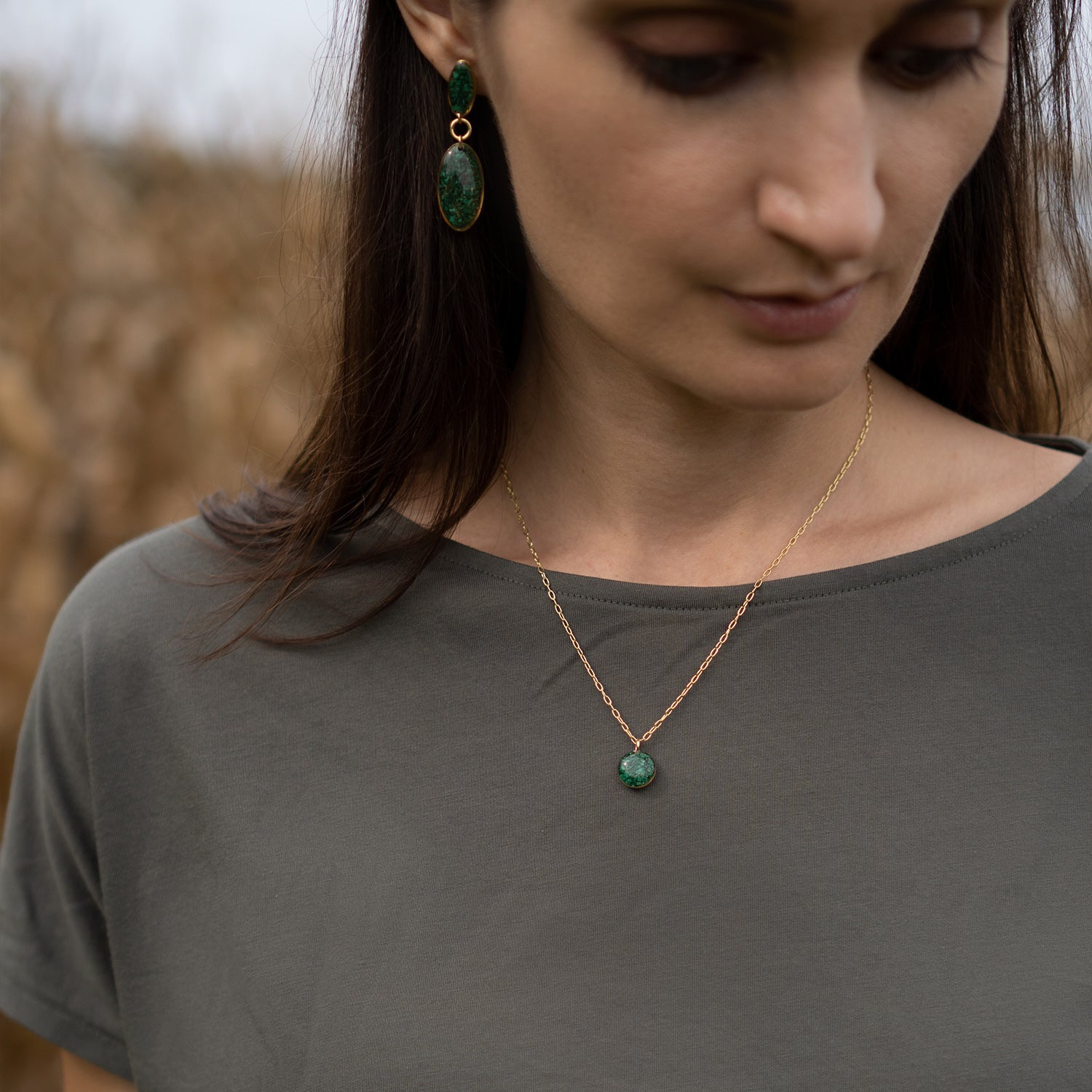 Dainty Malachite Necklace
