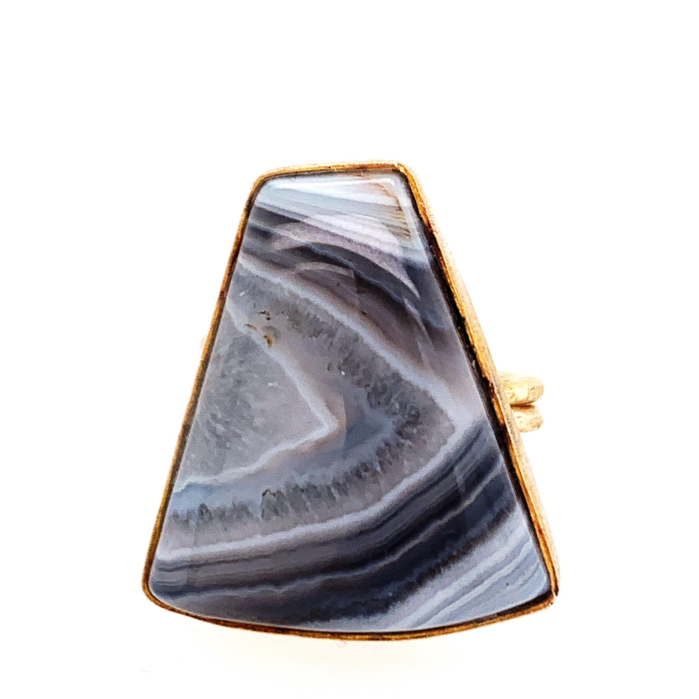 Grey Agate Statement Ring - One-of-a-Kind