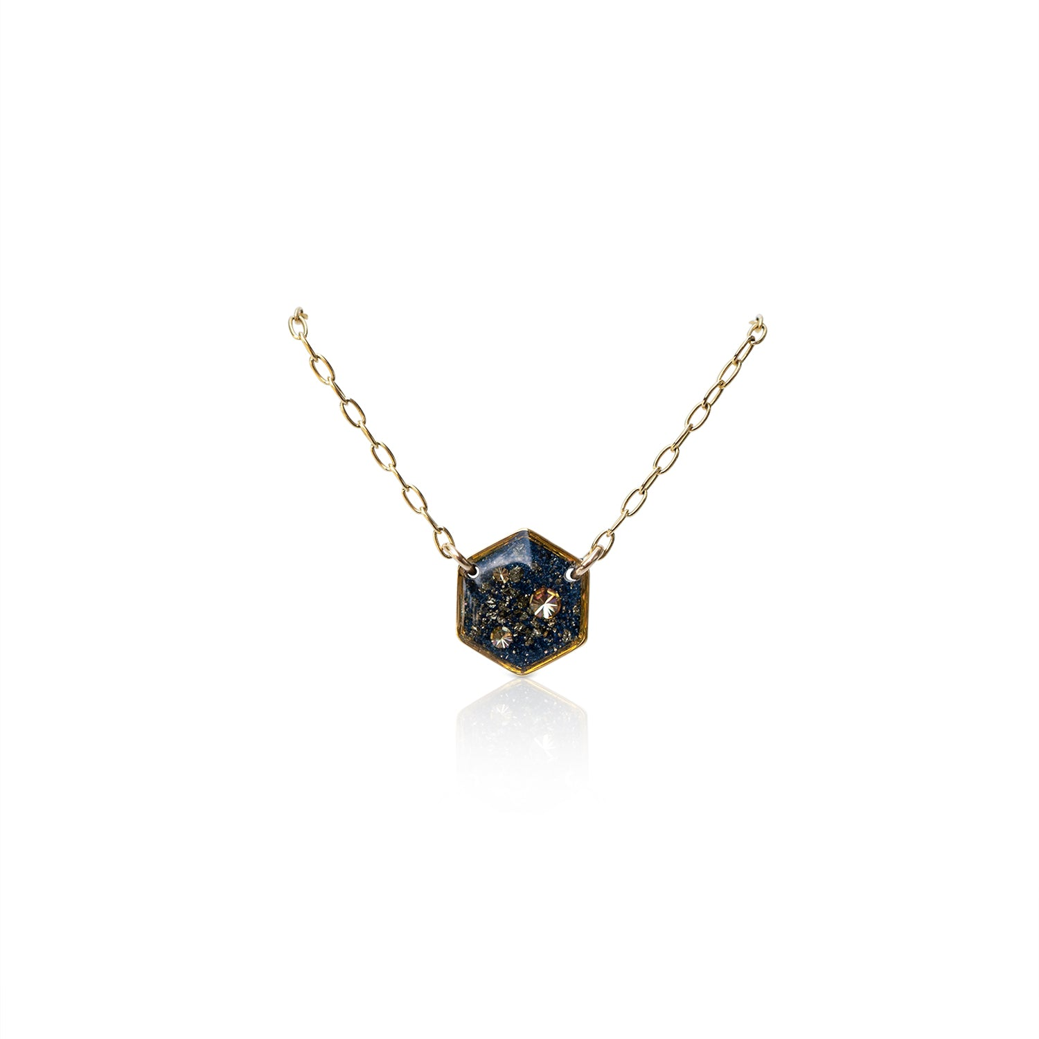 Hexagon Galaxy Necklace