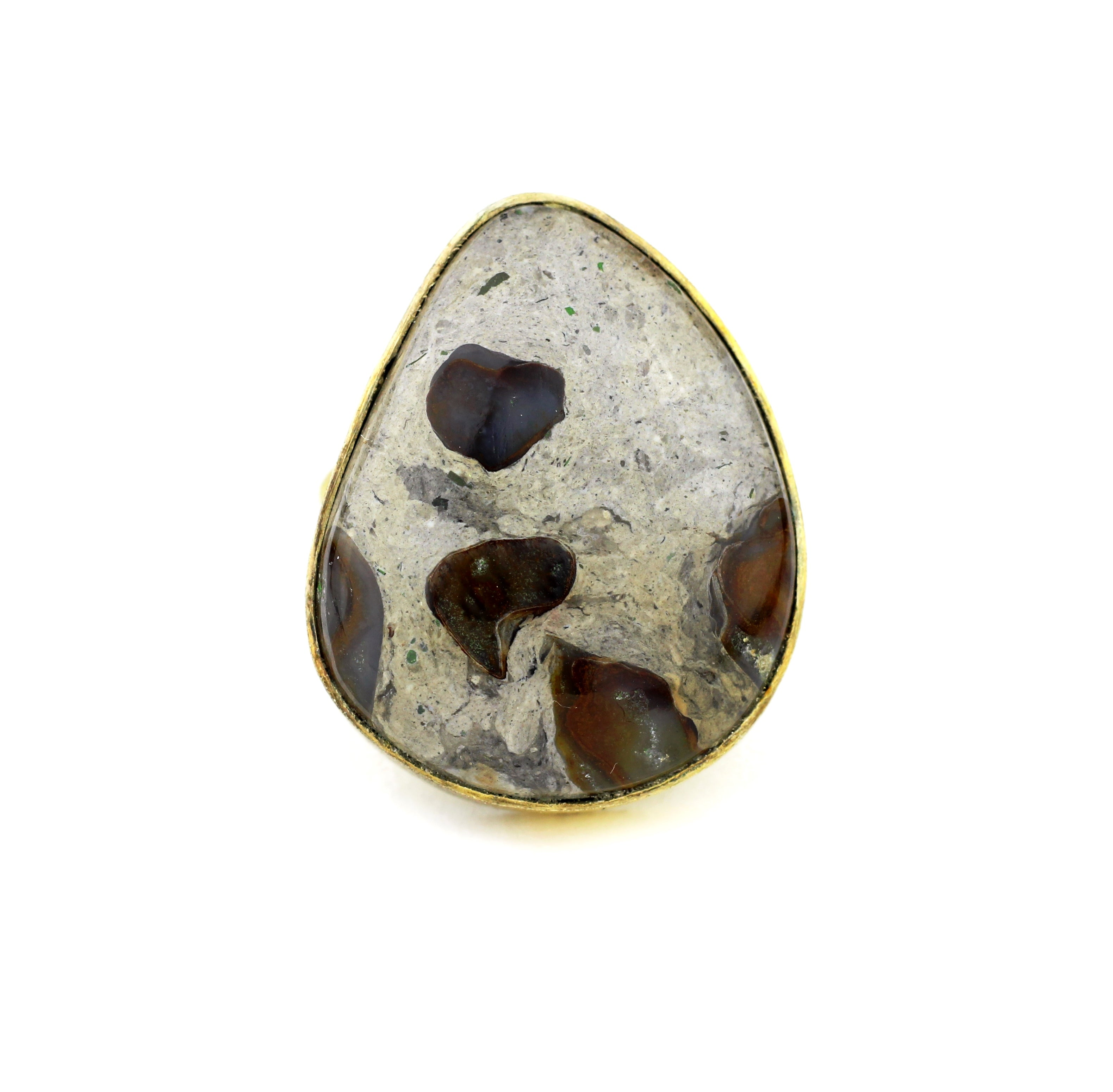 Boulder Opal Statement Ring - One-of-a-Kind