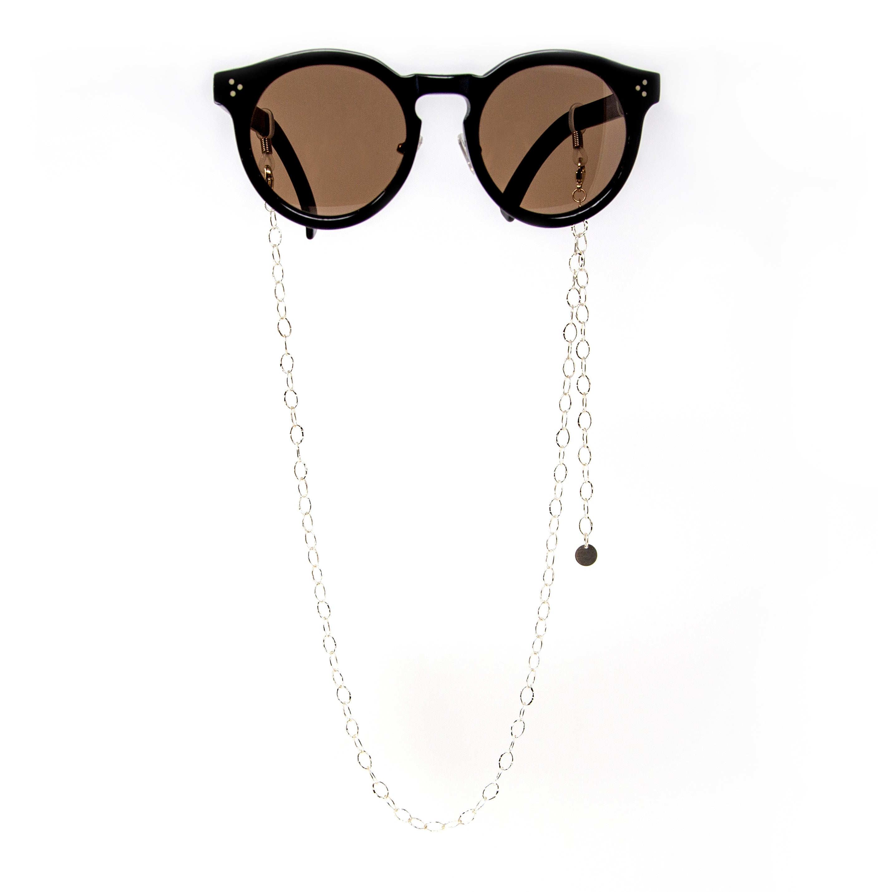 Mask/ Eyewear Silver Necklace with Oval Chain