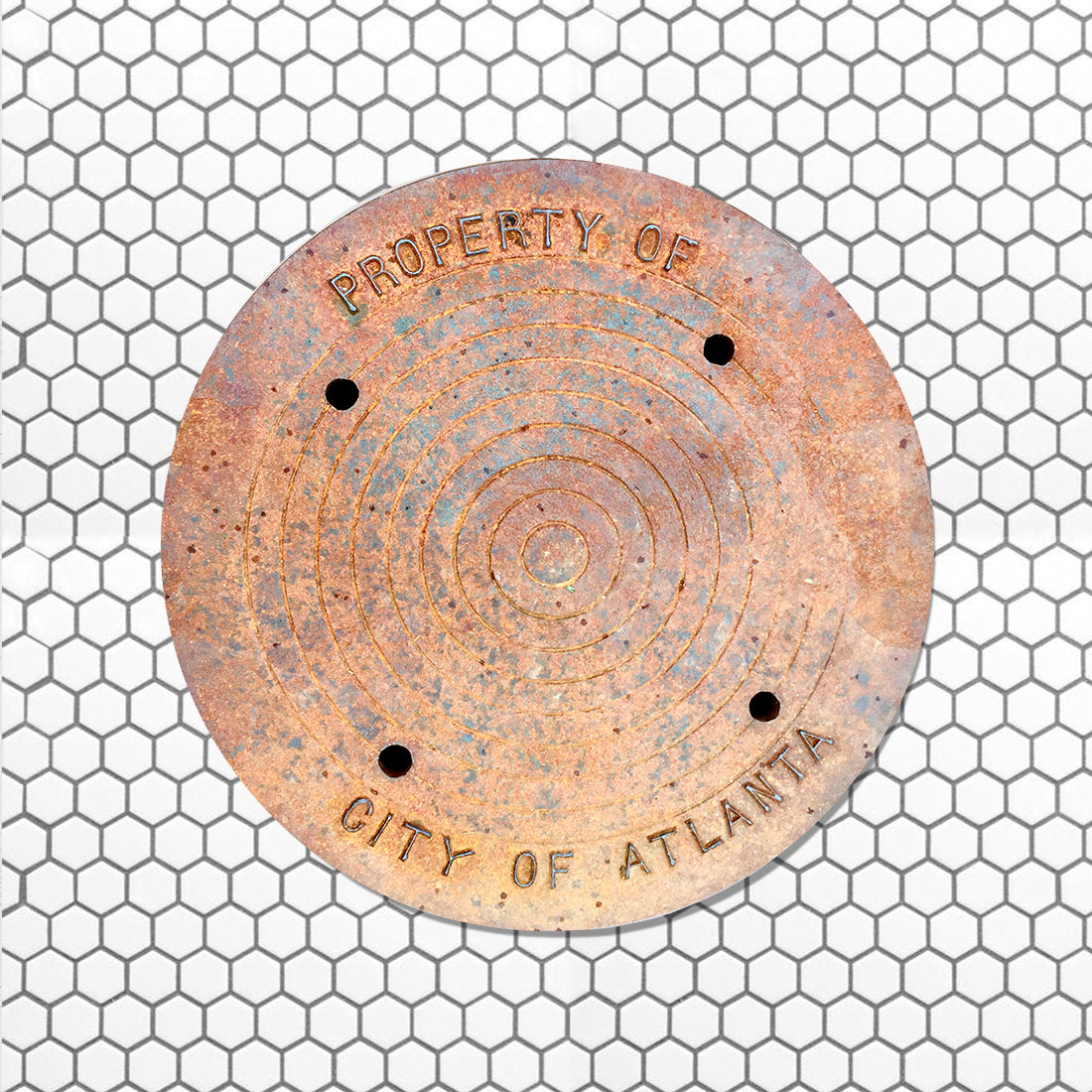 SOUTH SERIES - Sewer Cover Doormat, Trivet, Coaster - Atlanta, GA