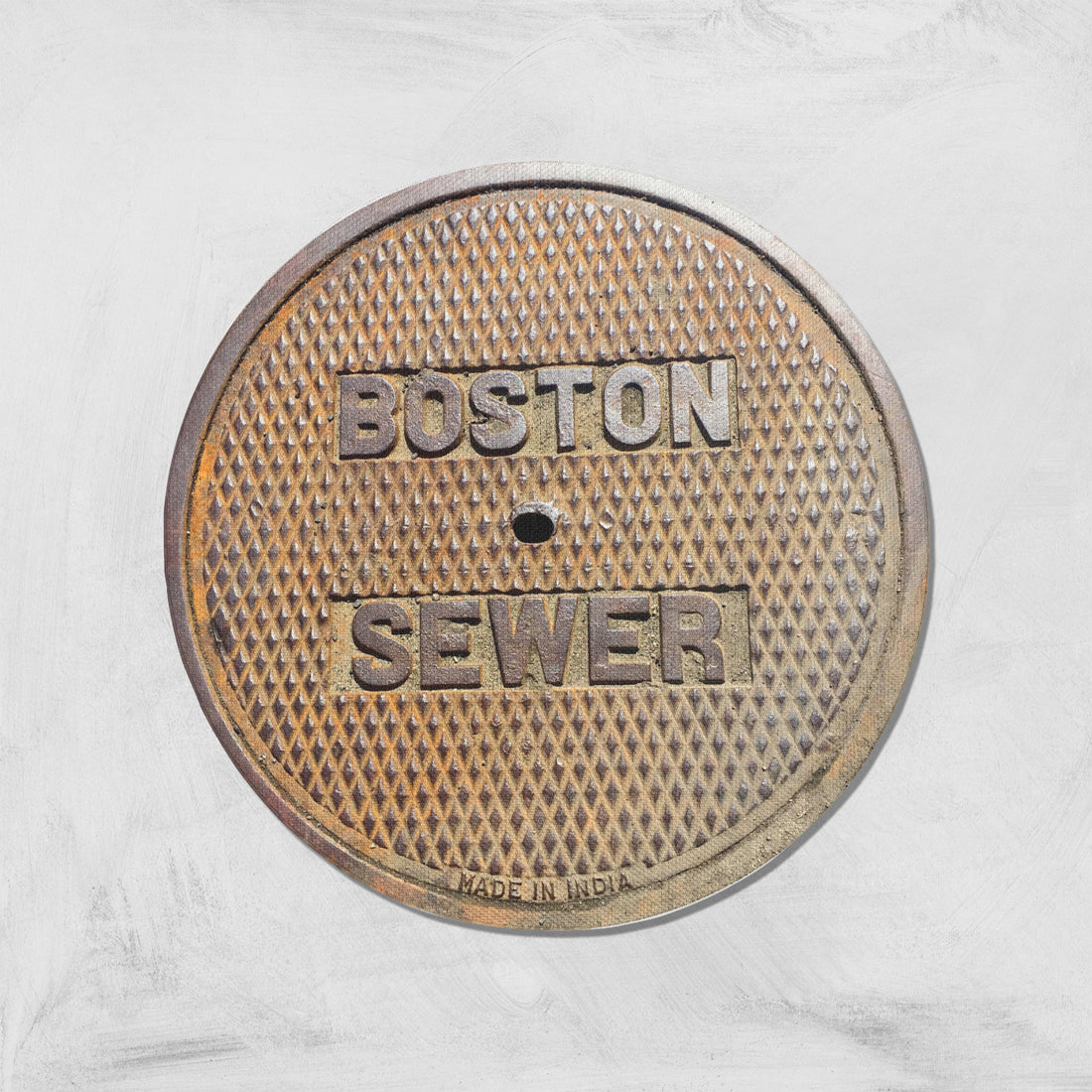 EAST SERIES - Sewer Cover Doormat, Trivet, Coaster - Boston, MA