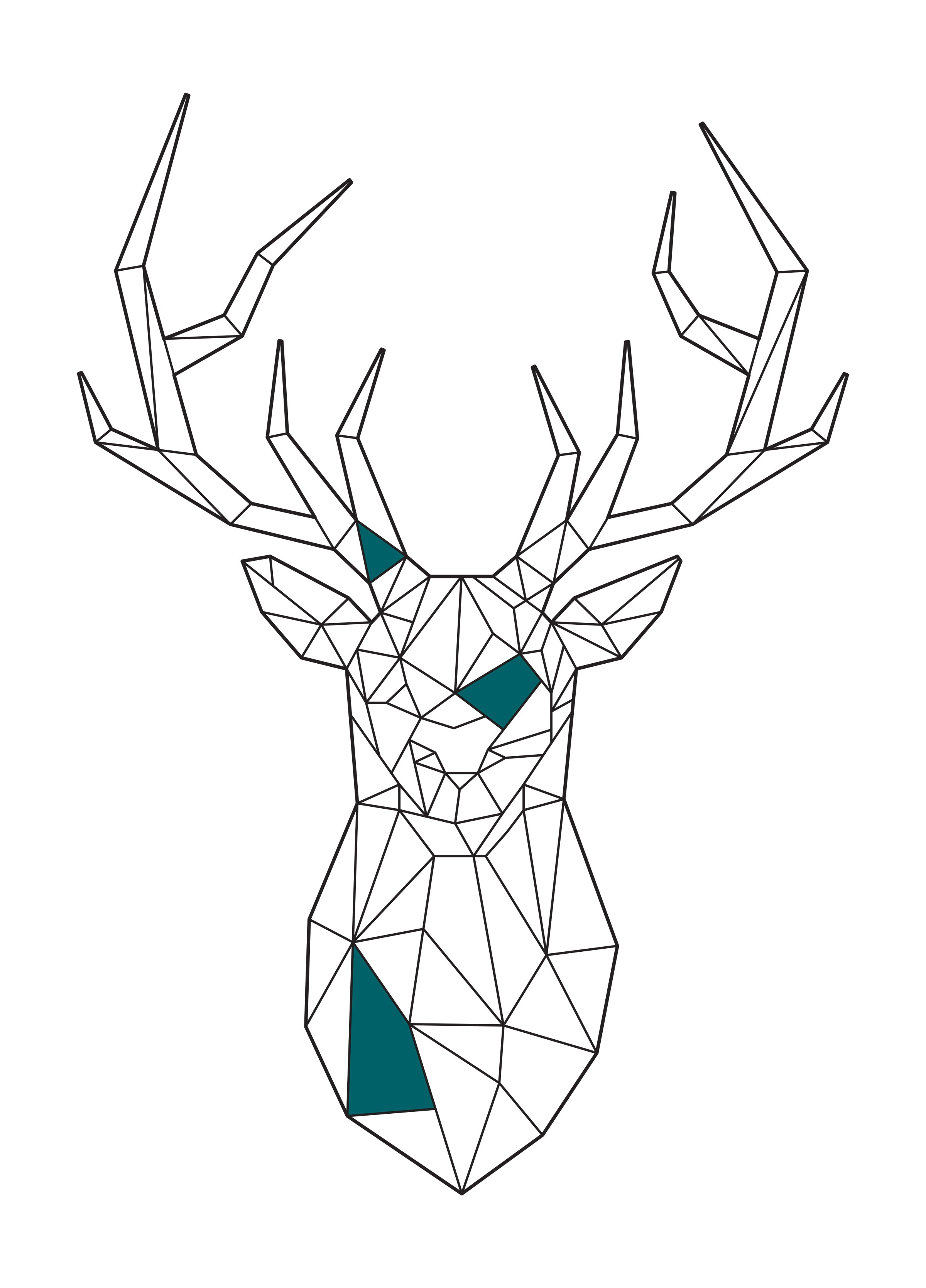 Deer Geometric - T-Shirt