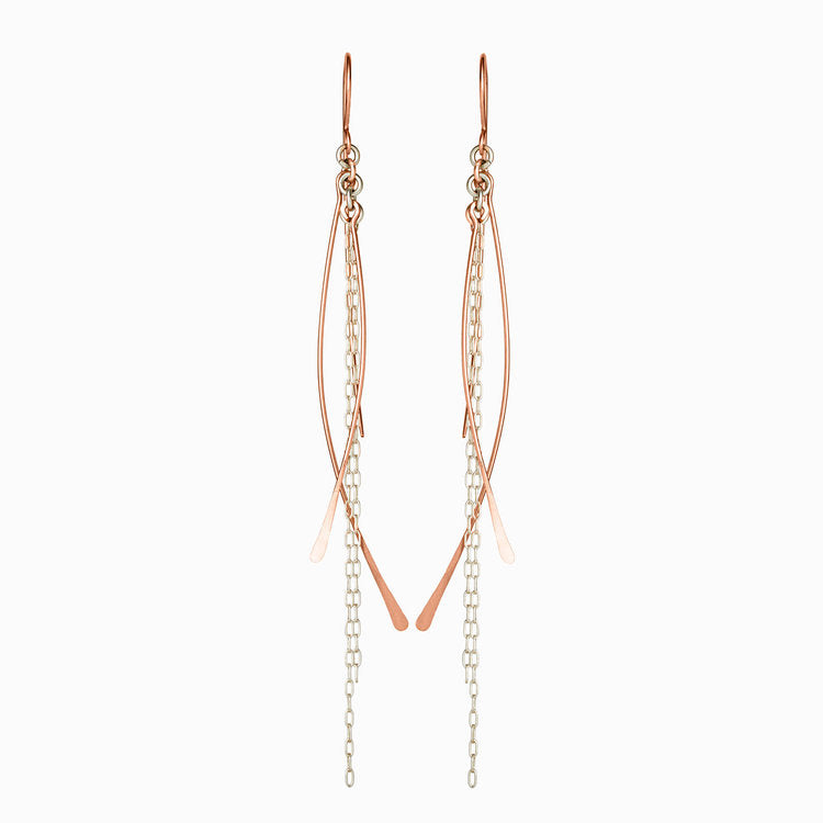 Chain Dangle Earrings- Rose Gold Fill