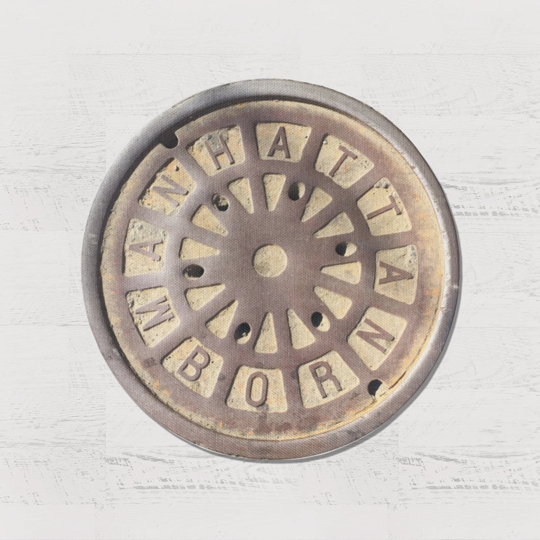 NYC SERIES - Sewer Cover Doormat, Trivet, Coaster - Manhattan