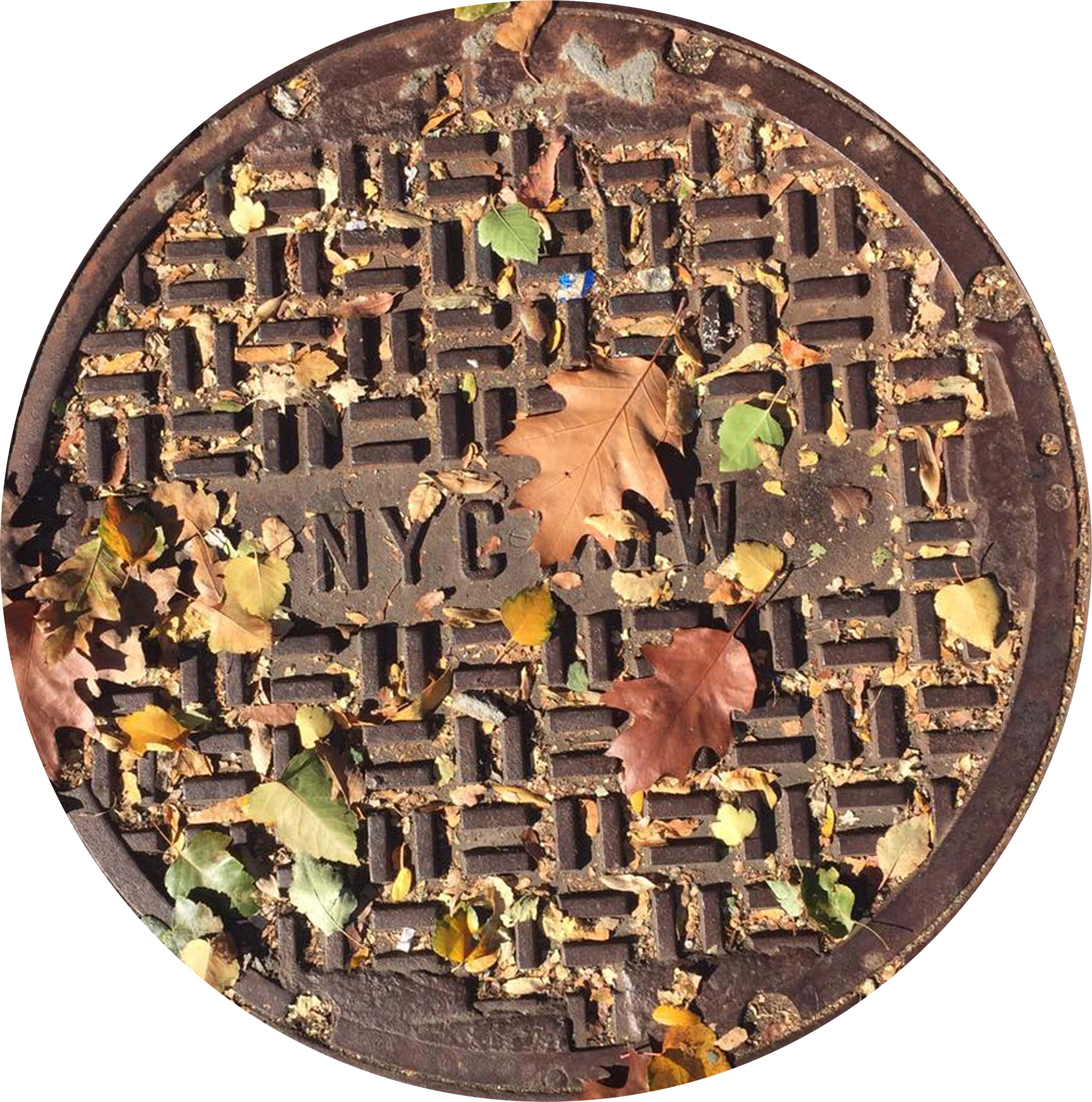 NYC SERIES - Sewer Cover Doormat, Trivet, Coaster - Fall - New York, NY