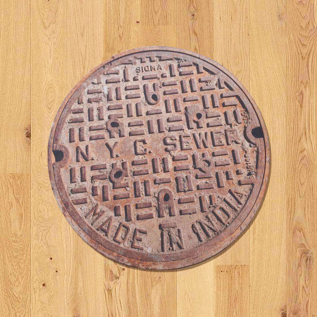 NYC SERIES - Sewer Cover Doormat, Trivet, Coaster - Made in India - New York, NY