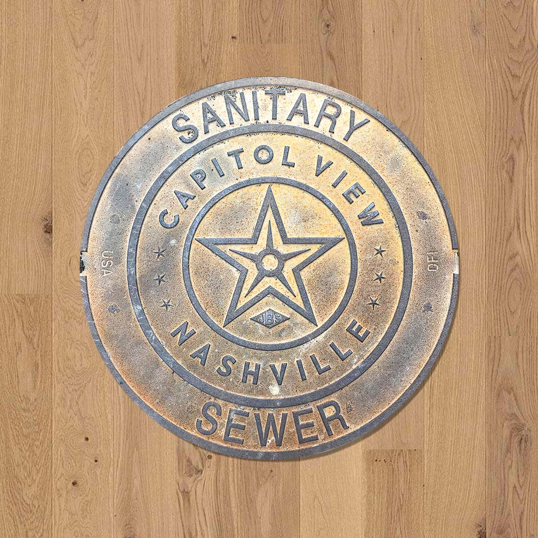 SOUTH SERIES - Sewer Cover Doormat, Trivet, Coaster - Nashville, TN