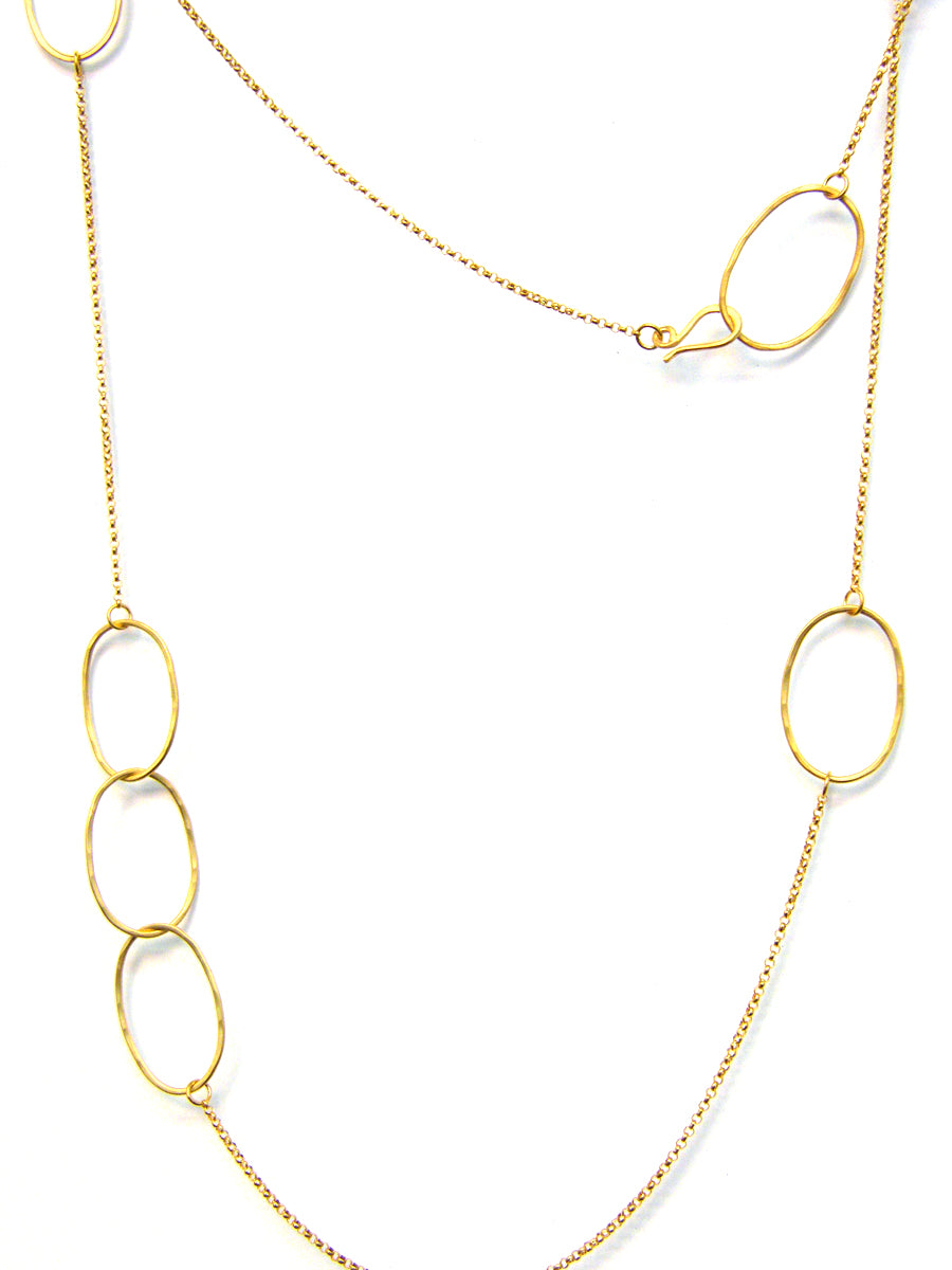 Long Odd Necklace - 18K Gold Vermeil