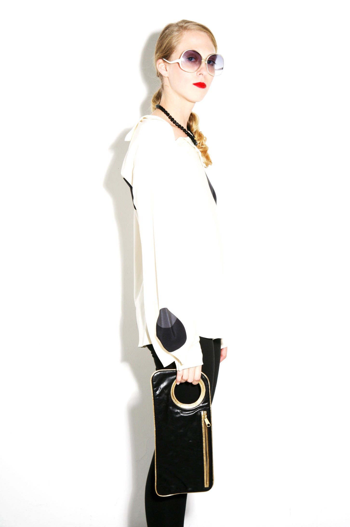 Hands-Free Bracelet Bag - Medium - Stingray/Pearl - Italian Leather
