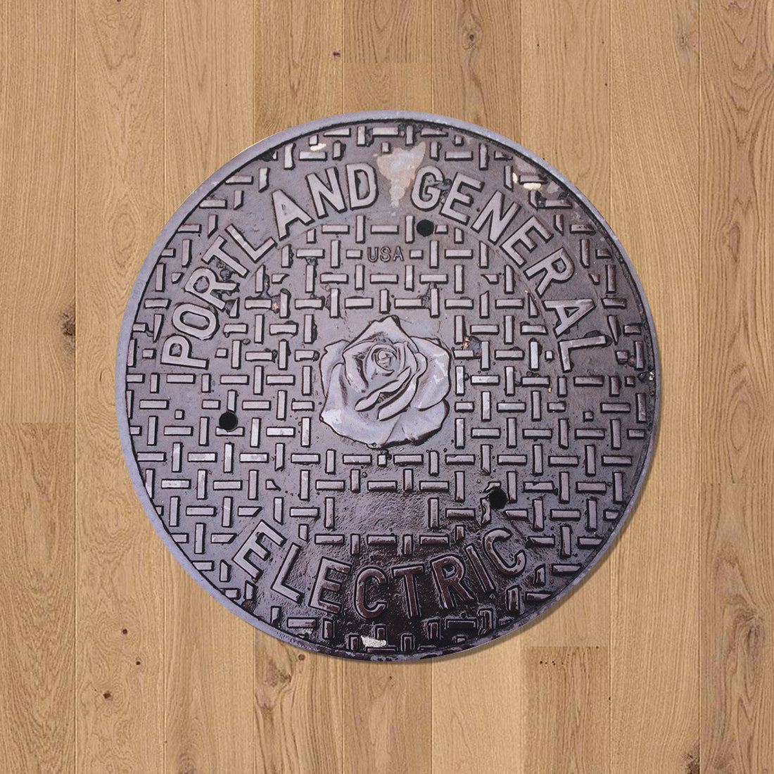 WEST SERIES - Sewer Cover Doormat, Trivet, Coaster - Portland, OR