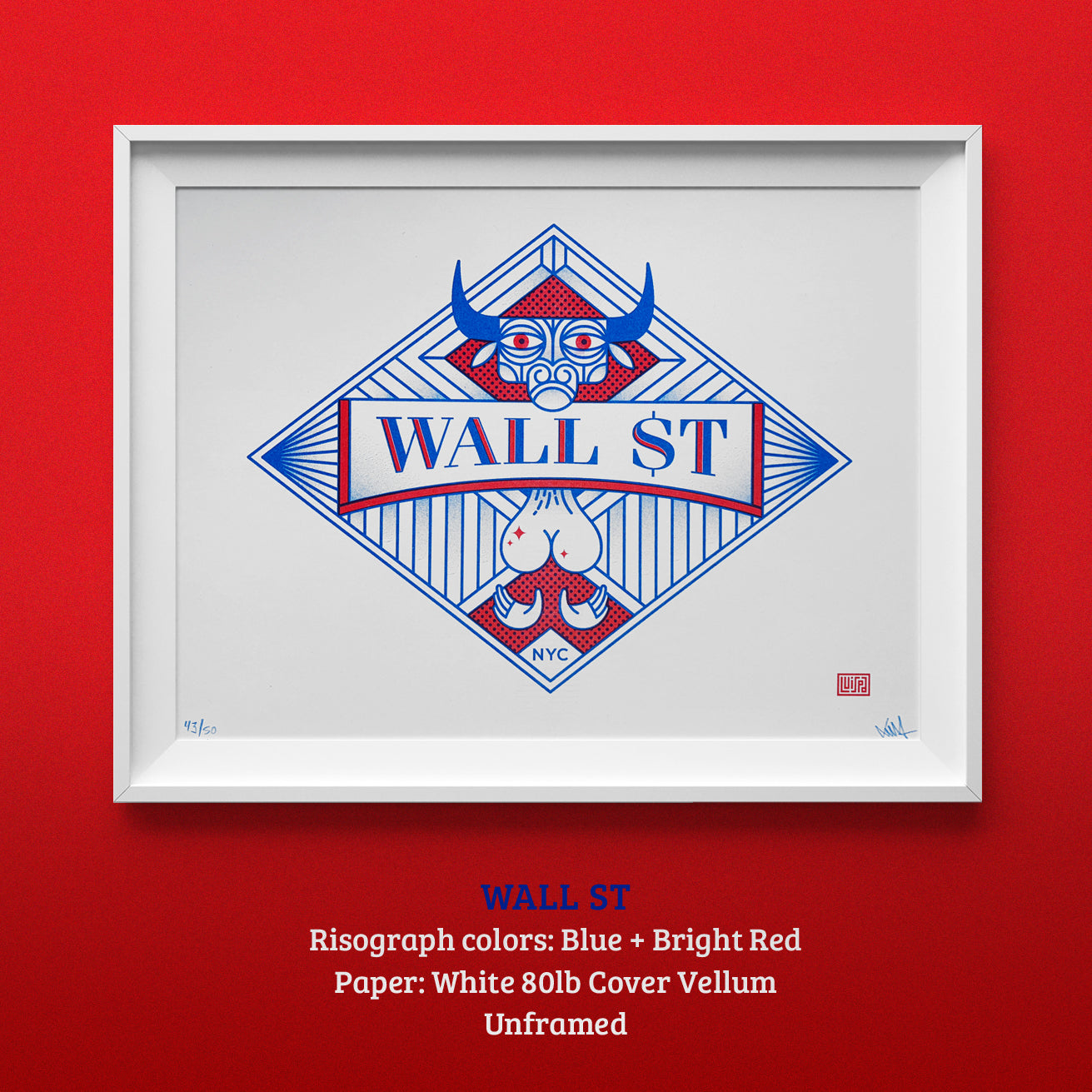 Wall Street Risograph Print by Lulab
