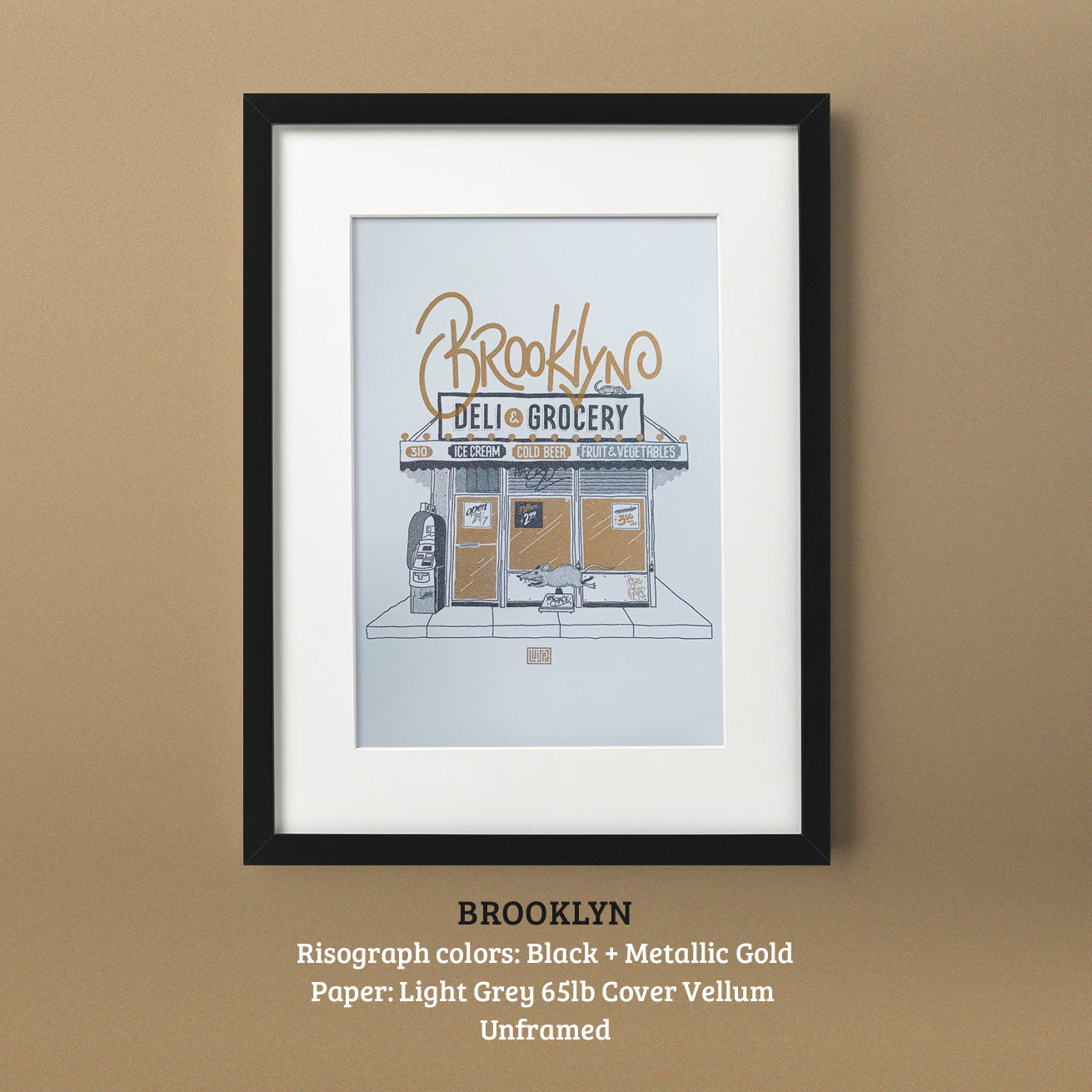 Brooklyn Risograph Print by Lulab