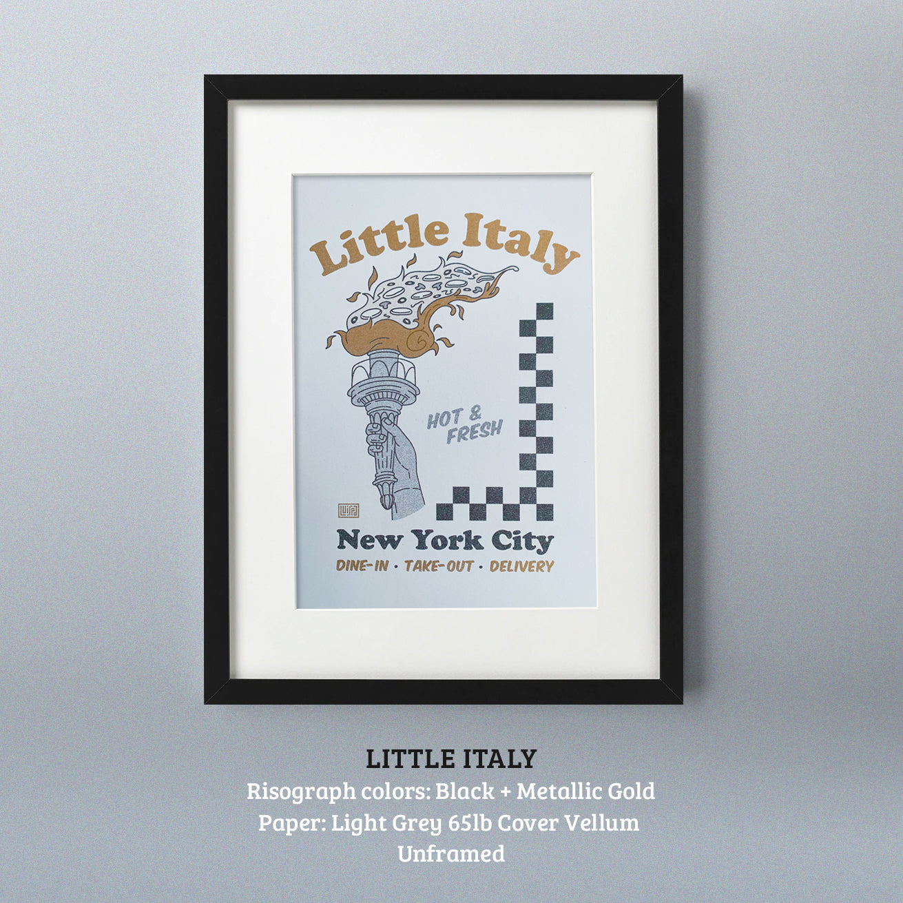 Little Italy Risograph Print by Lulab