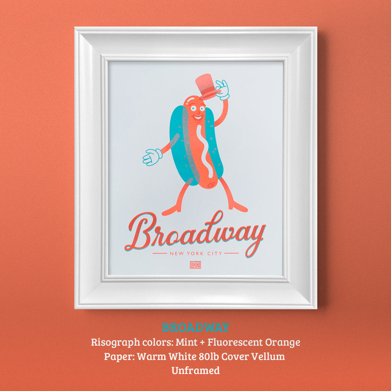 Broadway Risograph Print by Lulab