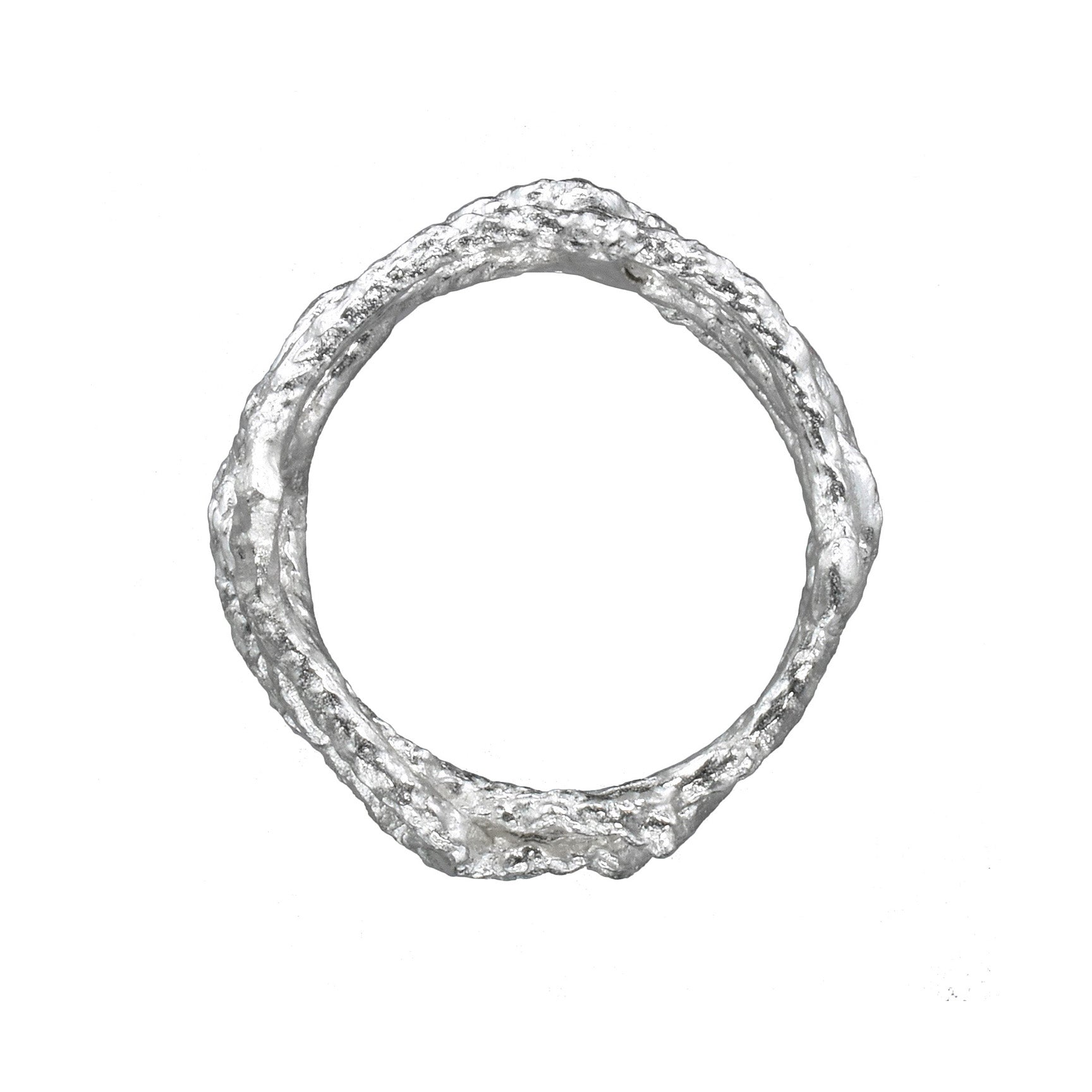 Fishing Net Ring - Sterling Silver - US Size 7