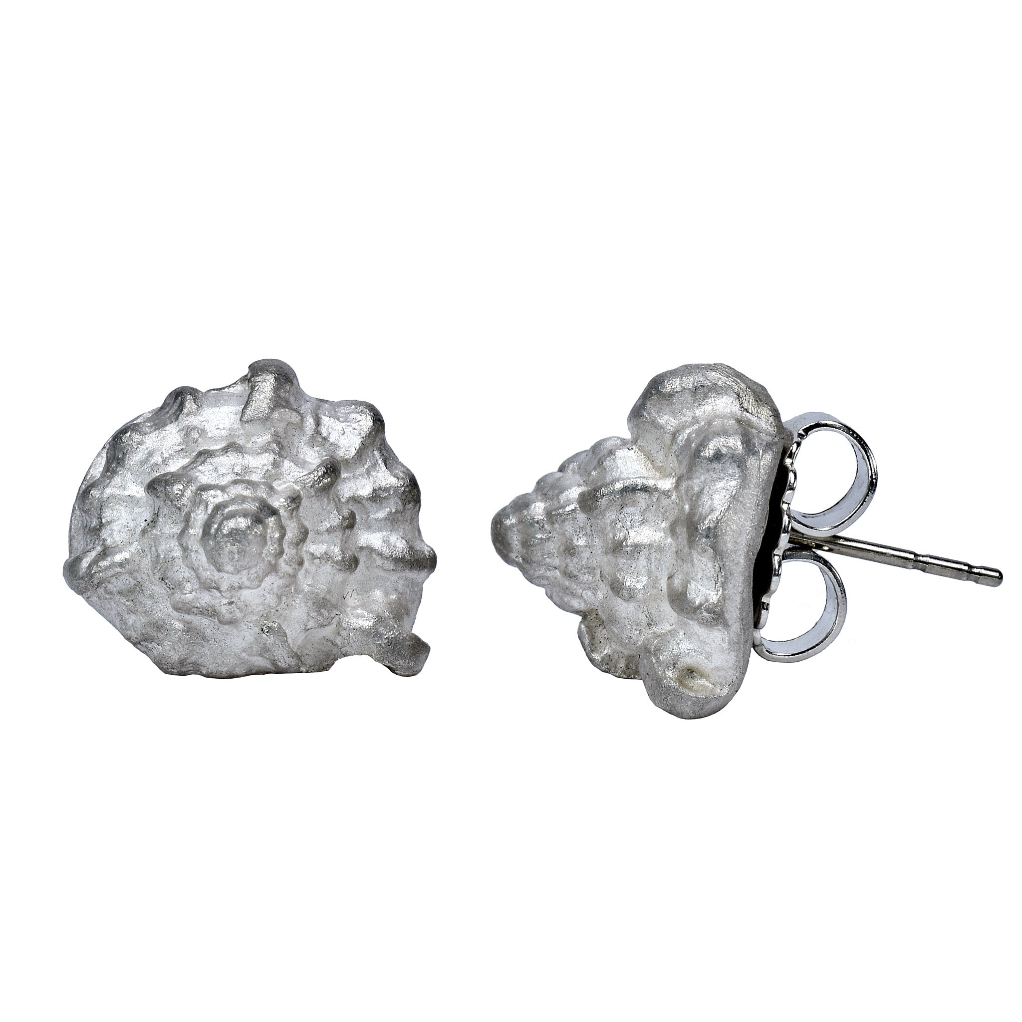 Seashell Earrings - Sterling Silver