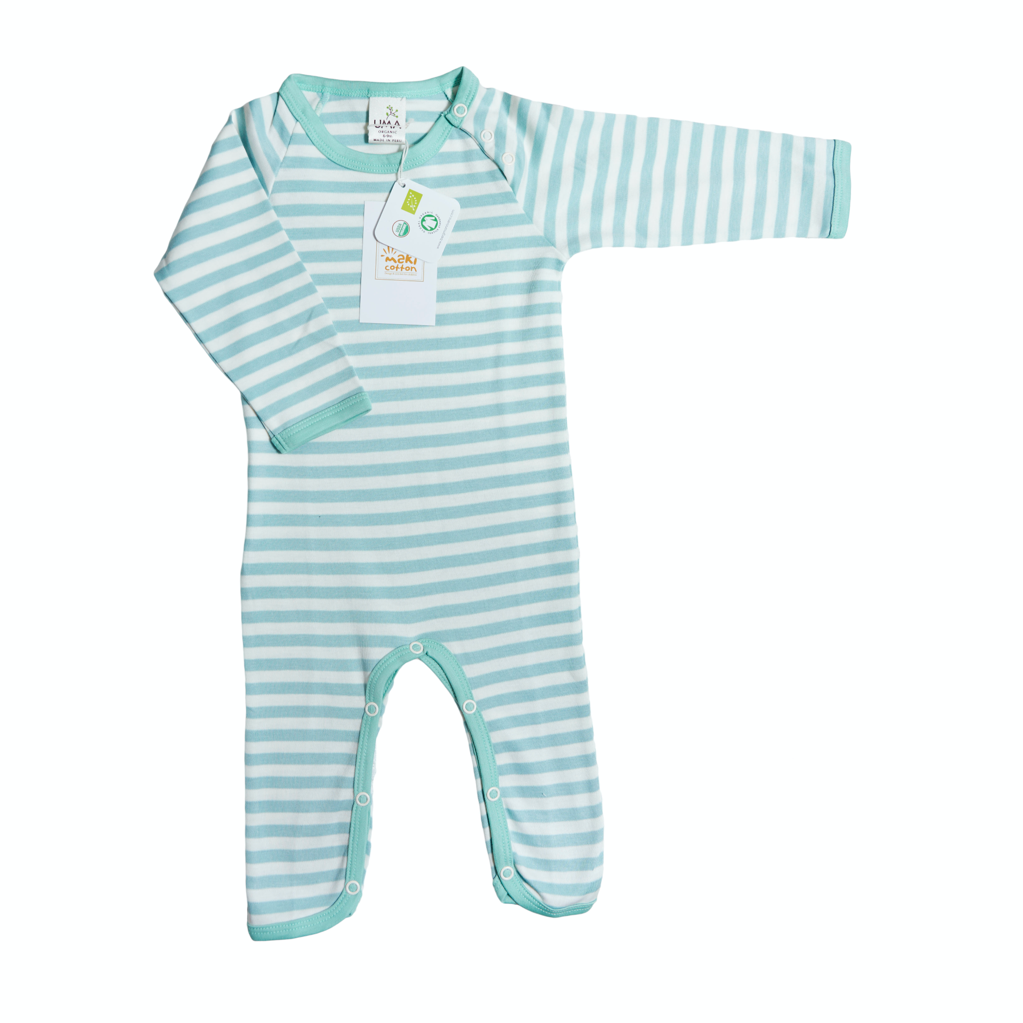 Striped Playsuit -  Aqua