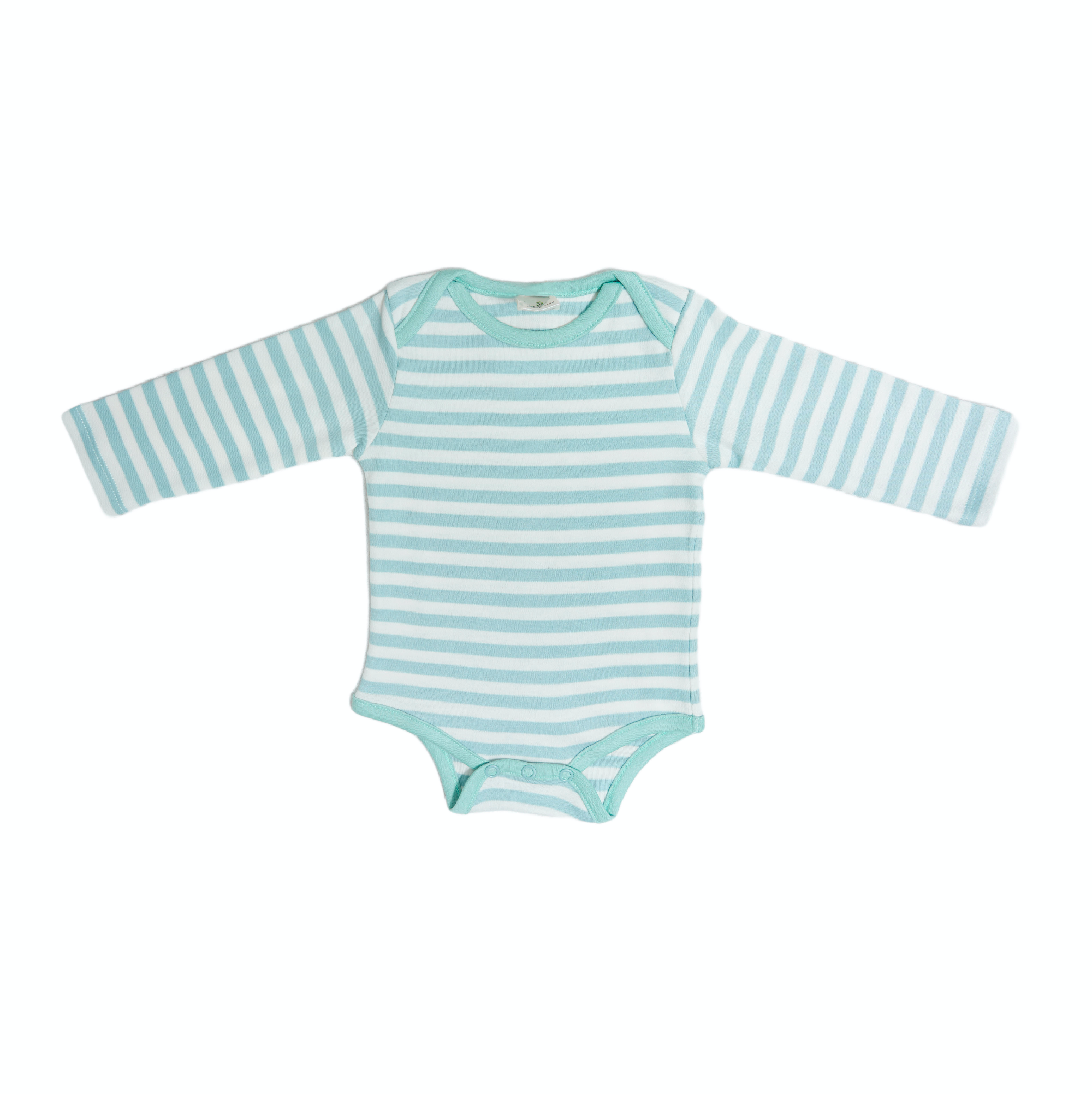 Organic Striped Onesie- Aqua