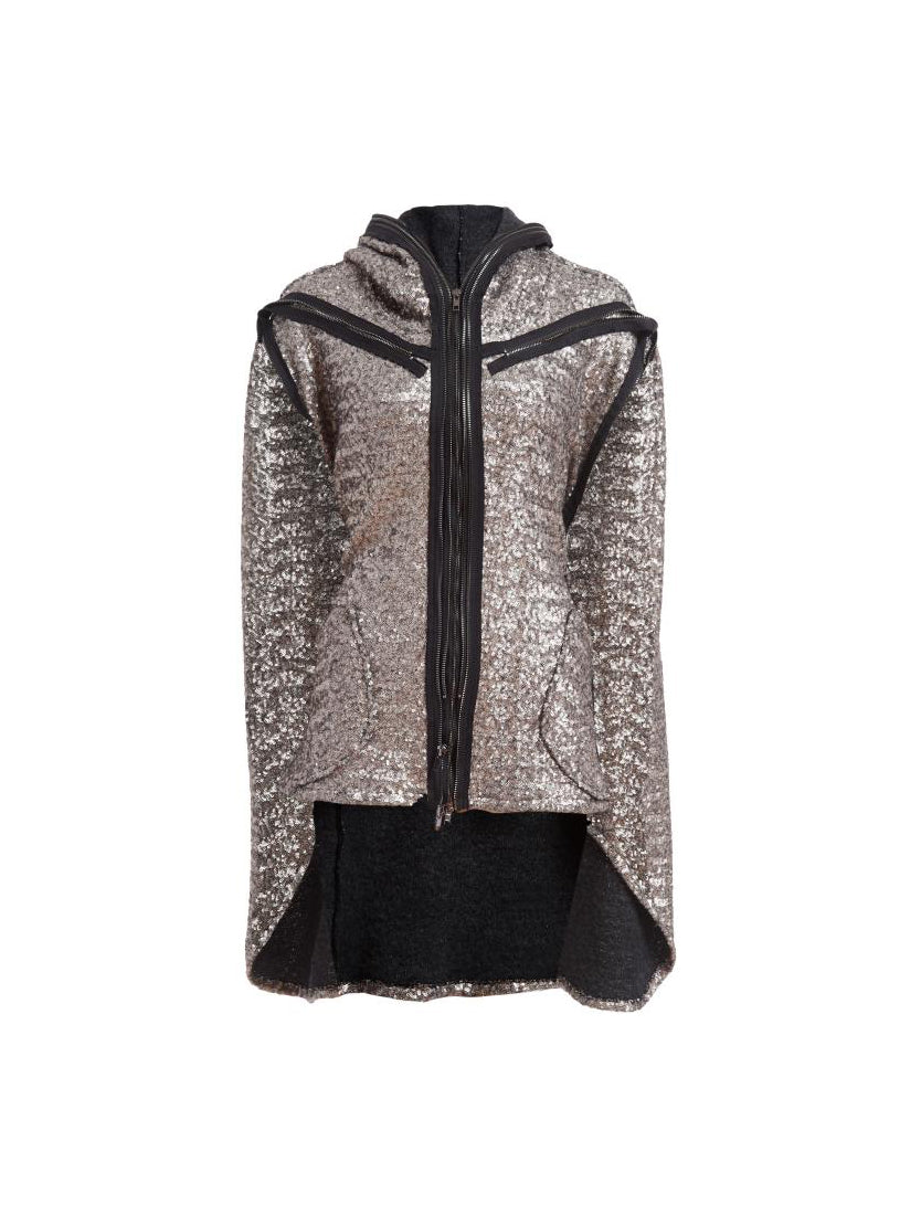 Sequin Sweater Poncho
