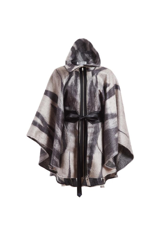 Shades of Gray Poncho - One Size