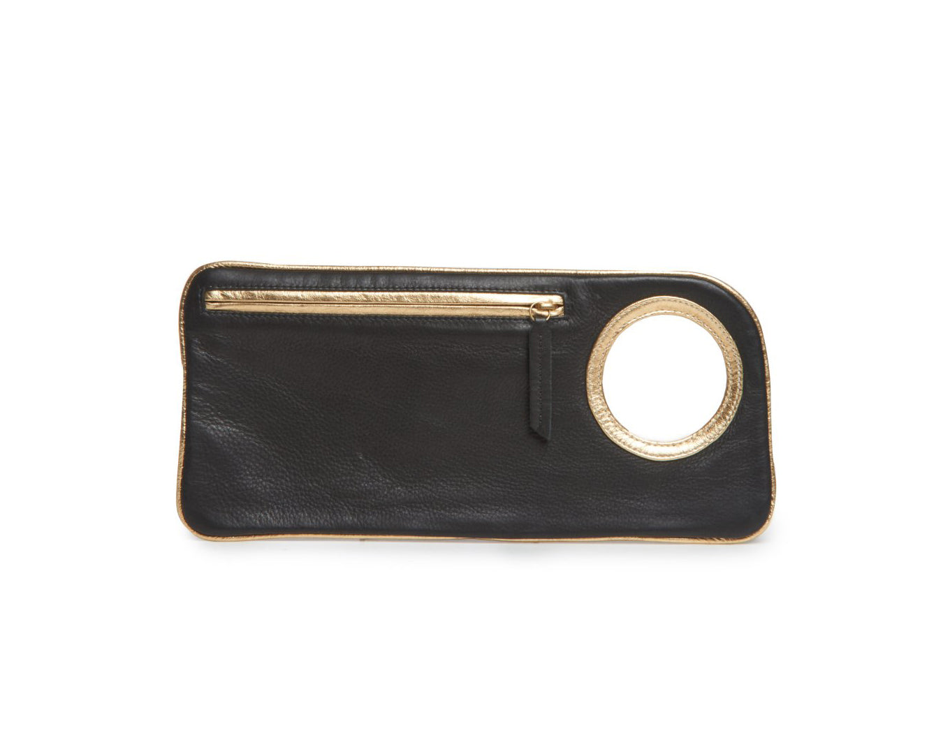 Hands-Free Bracelet Bag - Medium - Black/Gold - Italian Leather