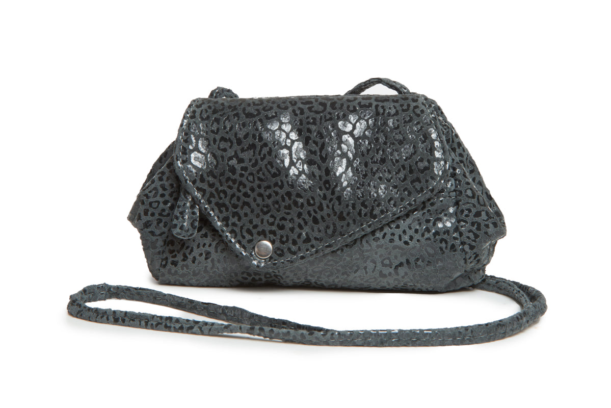 Sophia Convertible Bag - Cheetah Print on Suede - Italian Leather