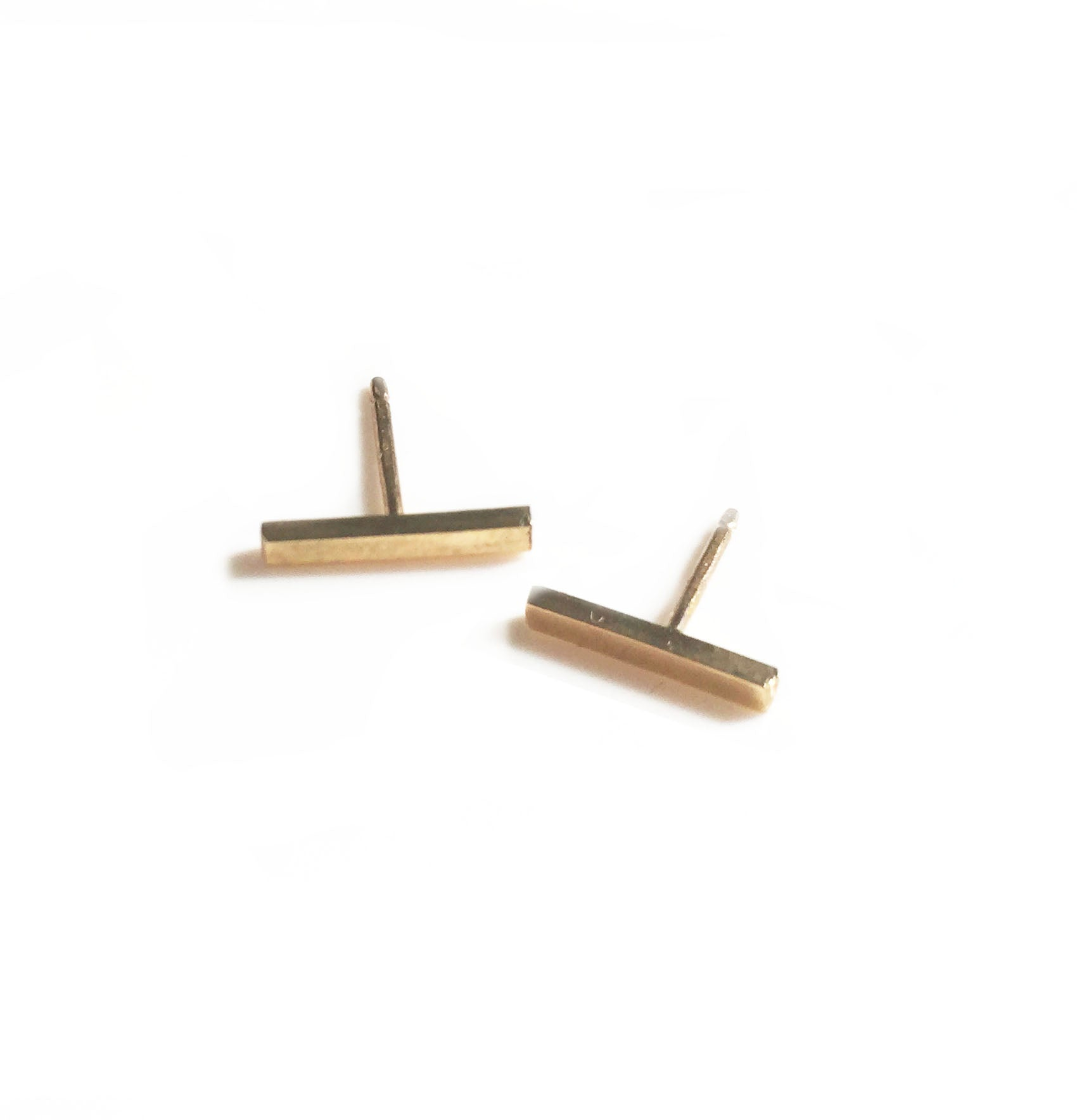 Bar Studs - 14K Gold Filled or Sterling Silver