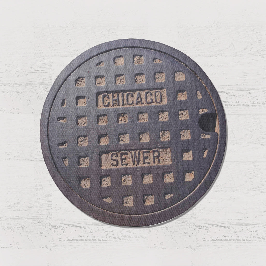 MIDWEST SERIES - Sewer Cover Doormat, Trivet, Coaster - Chicago, IL