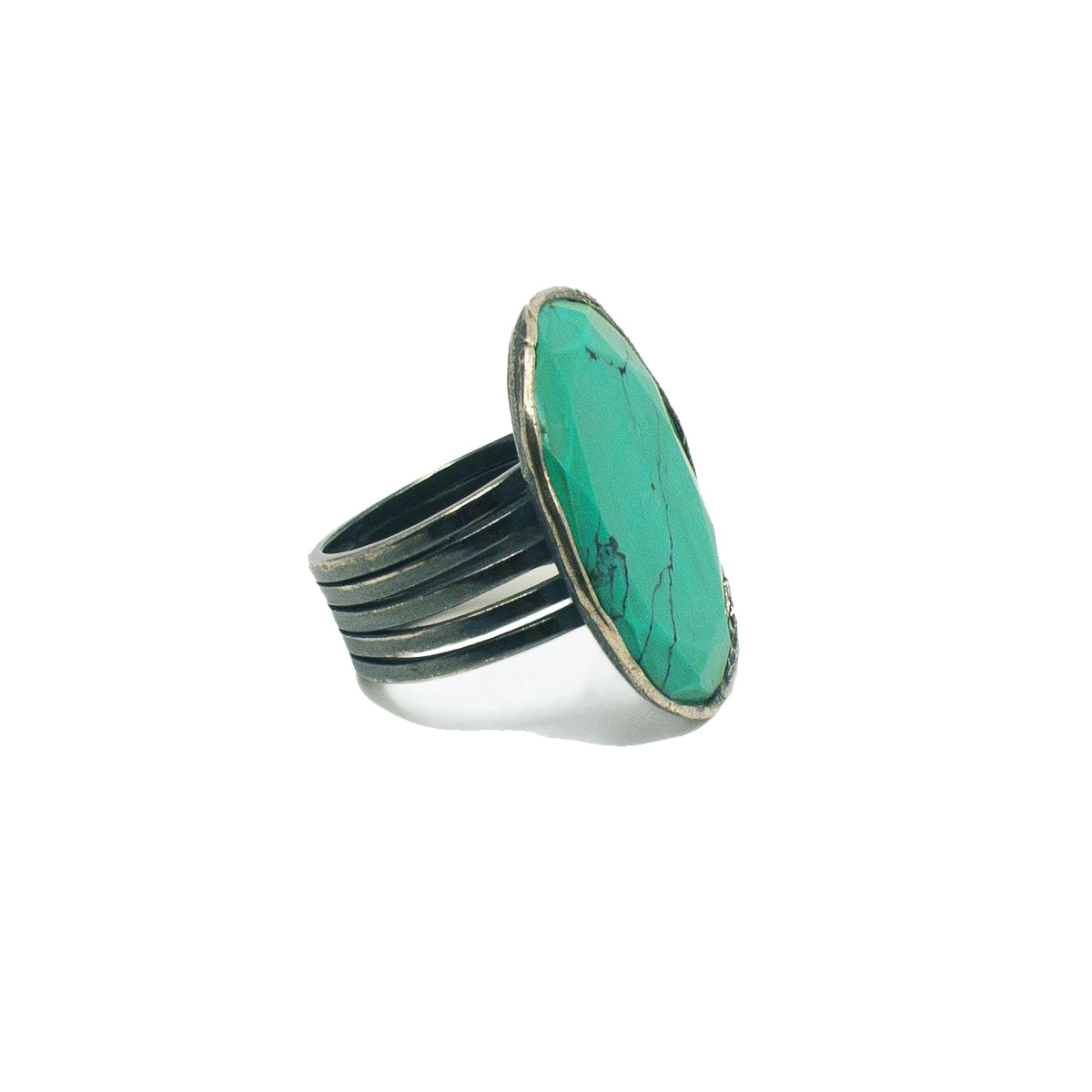 Laced Ring with Turquoise