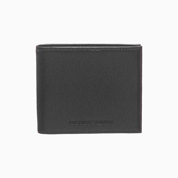 Emporio Armani Tumbled Leather Wallet With Logo