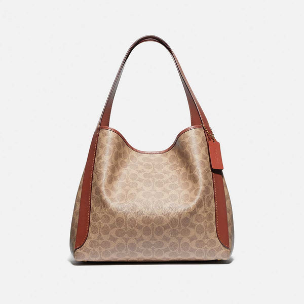 Coach Hadley Hobo In Signature Canvas