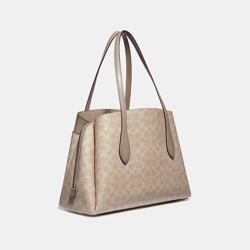 Coach Lora Carryall In Signature Canvas