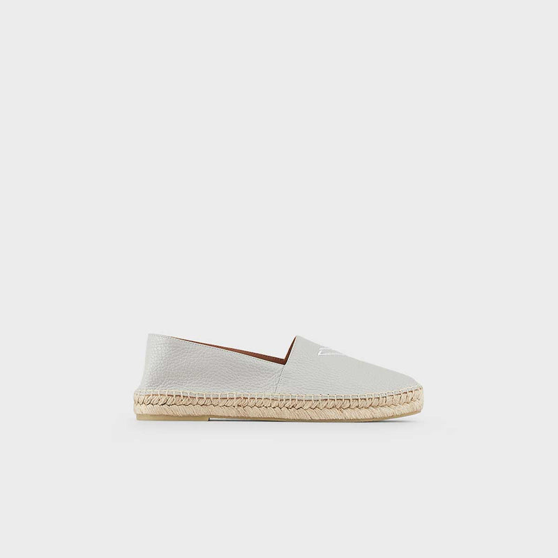 CALF LEATHER ESPADRIL SHOE