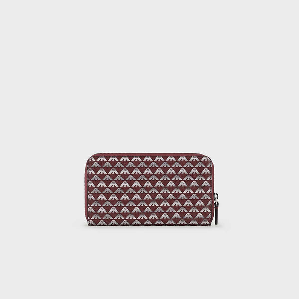 Emporio Armani Zip Wallet With All-Over Monogram