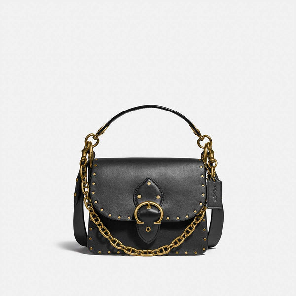 Coach Glovetanned Leather With Border Rivets Beat Shoulder Bag 18