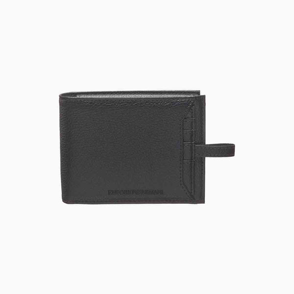 Emporio Armani Tumbled Leather Wallet With Removable Card Holder